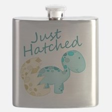 Just Hatched Blue Baby Dinosaur Flask