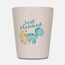 Just Hatched Blue Baby Dinosaur Shot Glass