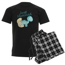 Just Hatched Blue Baby Dinosau Pajamas