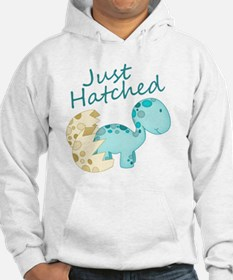 Just Hatched Blue Baby Dinosaur Hoodie