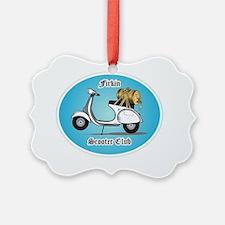 Firken Scooter Club Logo Ornament