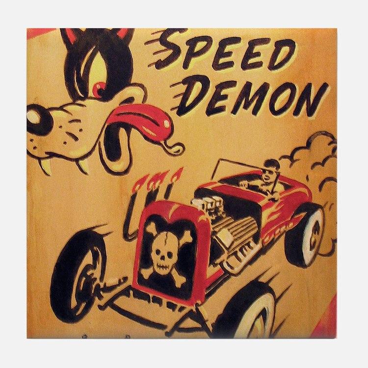 Speed Demon Tile Coaster