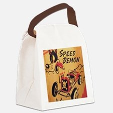Speed Demon Canvas Lunch Bag