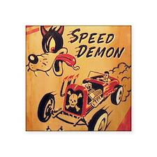 """Speed Demon Square Sticker 3"""" x 3"""""""