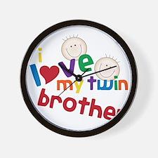Twin Brother Wall Clock