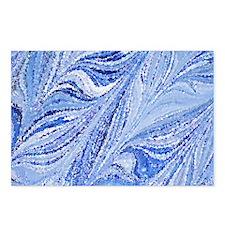 Italian Blue color marbli Postcards (Package of 8)