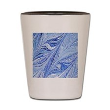 Italian Blue color marbling Shot Glass