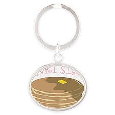 Short Stack Oval Keychain