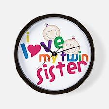 Twin Sister Wall Clock