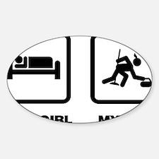 Curling-ABM1 Sticker (Oval)