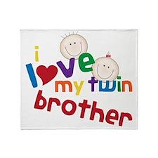 Love My Twin Throw Blanket