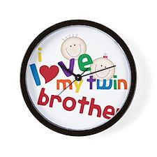 Love My Twin Wall Clock