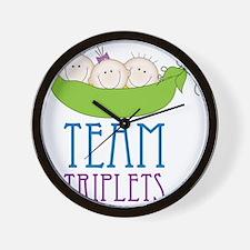 Team Triplets Wall Clock