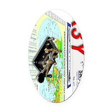 SKCC 2013 QSL 90 Oval Car Magnet