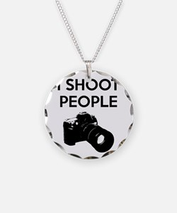 I shoot people - photography Necklace