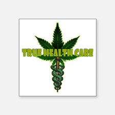 "True Health Care Square Sticker 3"" x 3"""