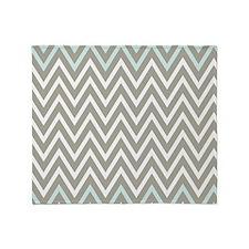 Gray chevron stripes Throw Blanket