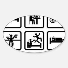 Wheelchair-Curling-ABA1 Sticker (Oval)