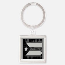 Ponce PR Square Keychain