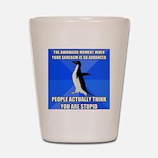 Socially Awkward Penguin Shot Glass
