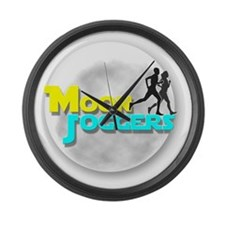 Official Moon Joggers Logo Large Wall Clock