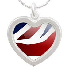 qwrtyu Silver Heart Necklace