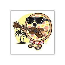 """Hawaiian Pizza Square Sticker 3"""" x 3"""""""