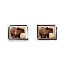 Grizzly Bear with cubs Cufflinks