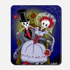 Muertos Bride and Groom Mousepad