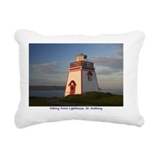 Lighthouse at Fishing Po Rectangular Canvas Pillow