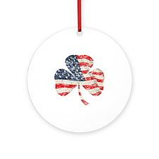 Irish-American Round Ornament