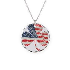 Irish-American Necklace Circle Charm