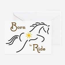 Born to Ride Greeting Card