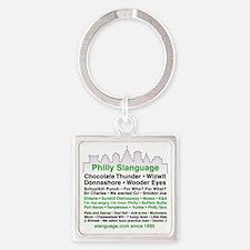 Philly Slanguage TShirt Square Keychain