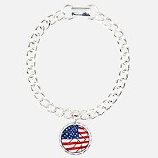 US Flag Volleyball Bracelet