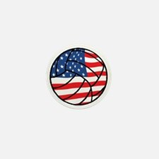 US Flag Volleyball Mini Button