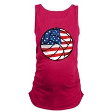 US Flag Volleyball Maternity Tank Top