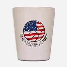 USA Volleyball Team Shot Glass