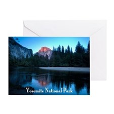 Half Dome sunset in Yosemite Nationa Greeting Card