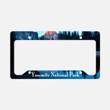 Half Dome sunset in Yosemite  License Plate Holder