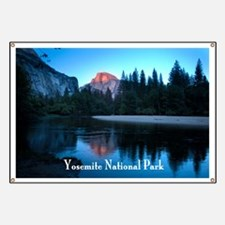 Half Dome sunset in Yosemite National Park Banner