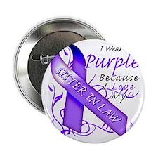 "I Wear Purple Because I Love My Siste 2.25"" Button"