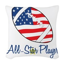 All Star Player Woven Throw Pillow