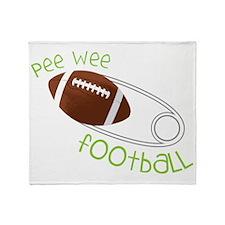 Pee Wee Football Throw Blanket