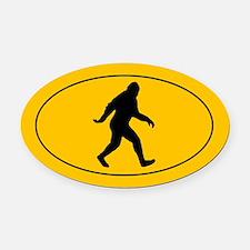 Bigfoot Oval Car Magnet