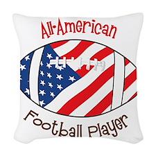 All American Woven Throw Pillow