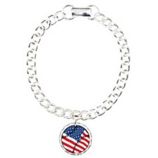 US Flag Baseball Bracelet