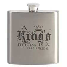 A Kings Room is A Clean Room Flask