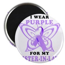 I Wear Purple for my Sister in Law Magnet