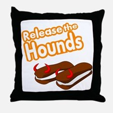 Release the Hounds Throw Pillow